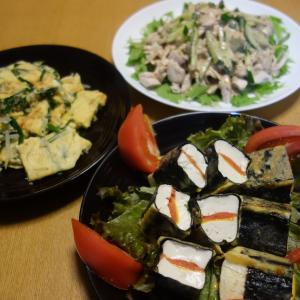 豆腐の明太チーズサンドピカタ