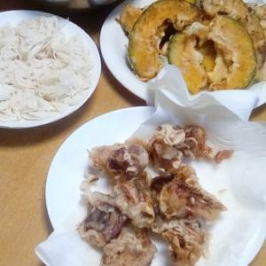 4W1日☆シンプルに天ぷらと素麺