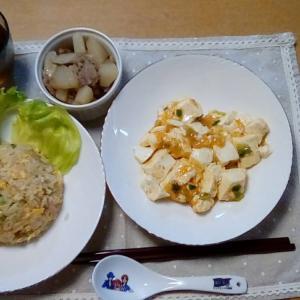 チャーハンと麻婆豆腐で中華ディナー