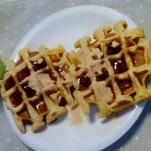 ワッフルで簡単朝食