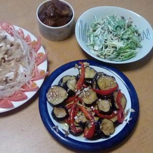 棒棒鶏・茄子とパプリカのマリネ