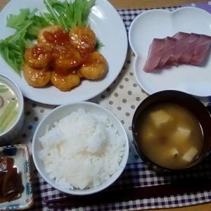 今夜は和食+「卯の花」消費