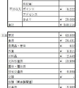 50歳準社員の2020年5月の収支