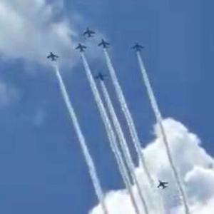 オリンピックで観たかった、東京上空のブルーインパルス