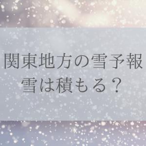 関東地方の雪予報2020年1月積もる?