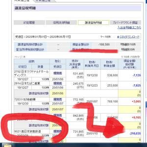 【株式投資ブログ】含み損拡大中6月13日「年間損益」の確認も