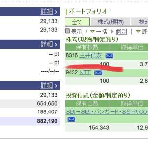【三井住友銀行】株価期待できそう?3月2日買い注文で保有して
