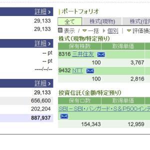 【三井住友銀行】株価は?3月3日に。NTT株保有銘柄どうなった?