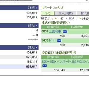 【NTT株価】急上昇3月5日に2021年配当金楽しみ三菱商事買いも