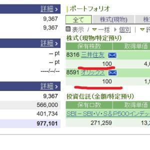 【三井住友株価】下落6月21日大幅に日経平均株価950円急落で