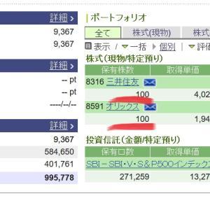 【三井住友株価】急上昇6月22日大幅上昇さらに期待オリックスも