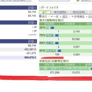 【三井住友株価】下落68円も含み損に?保有銘柄は9月16日