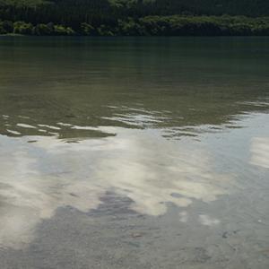 <夏の初めの湖で>