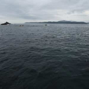 碁石海岸にて
