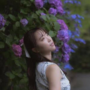 晴天→急に大雨?!曇天うにさんと紫陽花撮影♪by 筒井右仁六さん@リクエスト撮影。