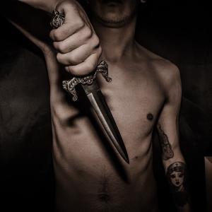 システマ:ナイフを持った相手からの攻撃