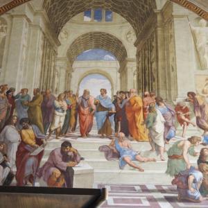 ヴァチカン美術館(Musei Vaticani)vol. 3:知の巨人たちが一堂に会す、ラファエロの間『アテナイの学堂』