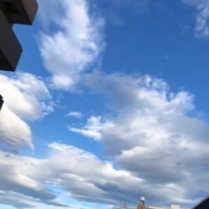 あさ6:00ころ 台風9号の東京の空 こんなでス