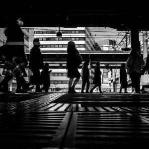 平塚駅のシルエット (神奈川)