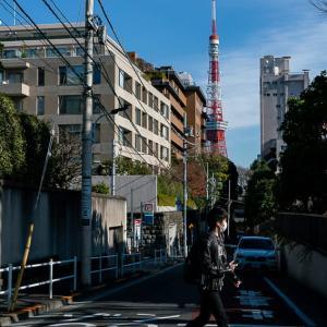 鳥居坂から見える東京タワー (東京)