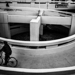 ループを下る自転車 (東京)
