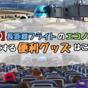 【定番】長距離フライトのエコノミーを快適にする便利グッズはこれだ!