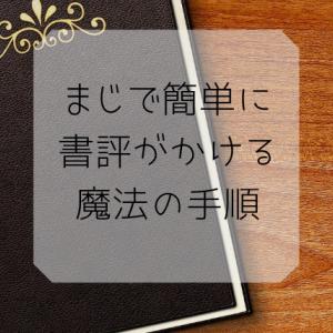 3ステップで簡単!いい書評の書き方 ブロガー要チェック!!