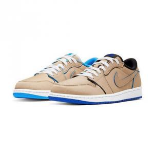 "NIKE SB AIR JORDAN 1 LOW ""Desert Ore/Royal Blue"""