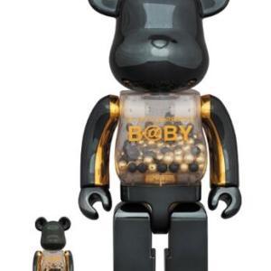 千秋・ポケモンベアブリック『MY FIRST BE@RBRICK B@BY innersect BLACK & GOLD Ver.』『BE@RBRICK ピカチュウ フロッキーVer. 100% & 400%』