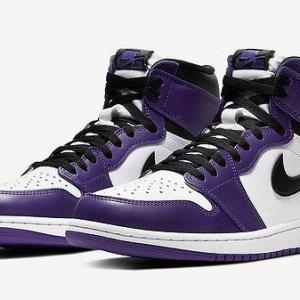 "NIKE AIR JORDAN 1 RETRO HIGH OG ""COURT PURPLE"""