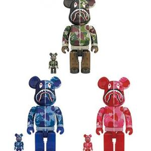 BE@RBRICK CLEAR ABC CAMO SHARK 100%&400%/1000%