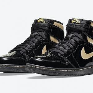 "NIKE AIR JORDAN 1 HIGH OG ""BLACK METALLIC GOLD"""
