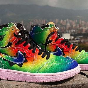 "J Balvin × NIKE AIR JORDAN 1 HIGH ""COLORES Y VIBRAS"""