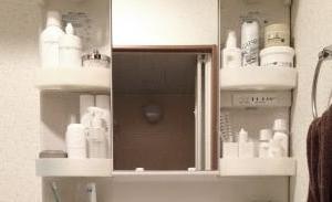 洗面台まわりをスッキリ&洗濯洗剤の置き場所