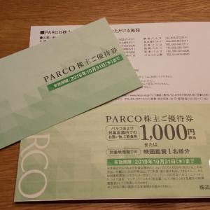 ★パルコより配当金&株主優待★