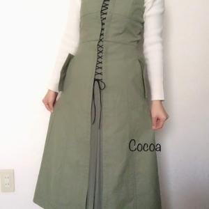 レディアゼル2019年秋のデザインデニムマキシワンピースを低身長が着てみた