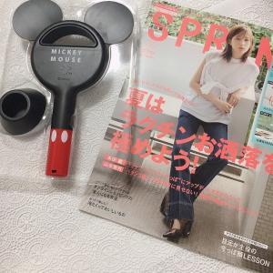 スプリング9月増刊号セブンイレブン限定特別付録のミッキーマウス羽根なしハンディ扇風機を開封と感想!