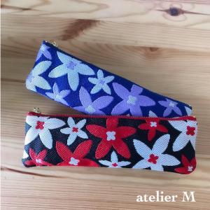 【新作】畳のヘリ花柄ペンケース