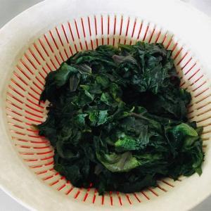【梅仕事】紫蘇ジュース、残りの紫蘇でご飯のお供