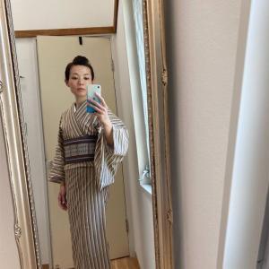 綿麻 小千谷縮の着物と紫陽花の剪定