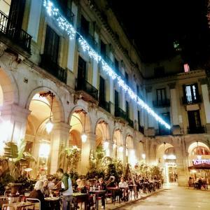 ・スペイン・冬のPlaca Reial♪バルセロナ〈51〉