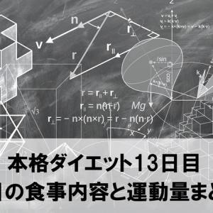本格ダイエット13日目