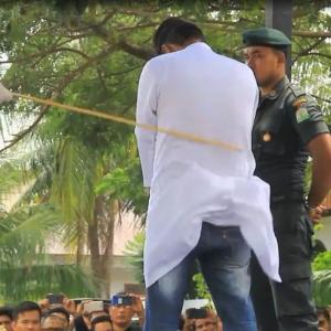 イスラム法による鞭打ちが今年2019年インドネシアで行われた?