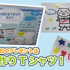 父の日はしまむらで買ったお絵かきTシャツセット1500円に決めた!
