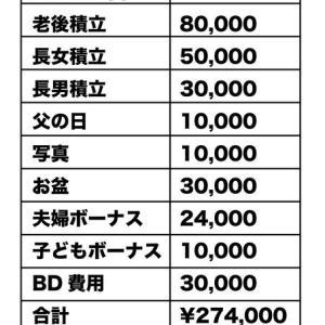 夏のボーナス明細公開!夫27万円わたし0円!
