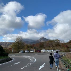 蒜山スカイライン 鬼女台展望台からは山とススキが美しい♪