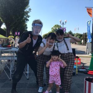 安城産業文化公園デンパークにて親子大道芸ショー