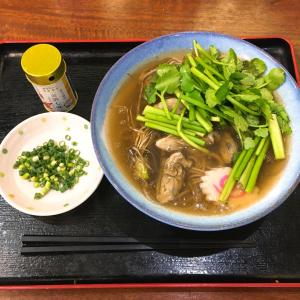 三陸牡蠣と仙台セリの餡掛け蕎麦