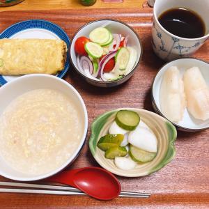 朝食は、雑炊
