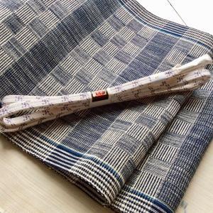 【 着物コーディネート 】深い藍「丹波布」の木綿帯